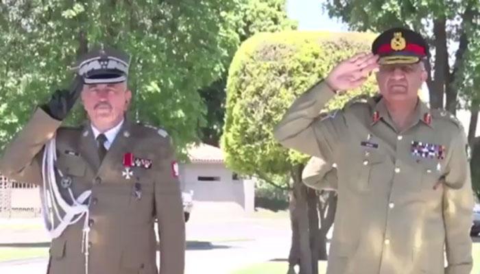آرمی چیف سے پولینڈ کی مسلح افواج کے کمانڈر کی ملاقات