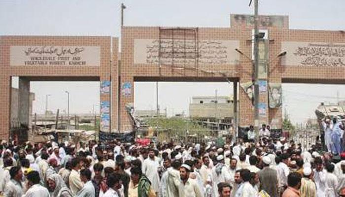 کراچی سبزی منڈی میں2 گروپوں میں تصادم، ایک جاں بحق