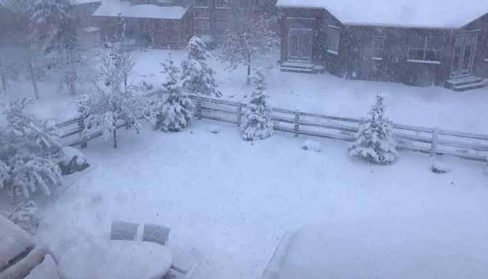 امریکی ریاست کولوراڈومیں برفباری کا طوفان