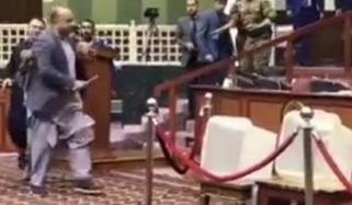 Afghan Lawmaker Brings Huge Knife To Parliament