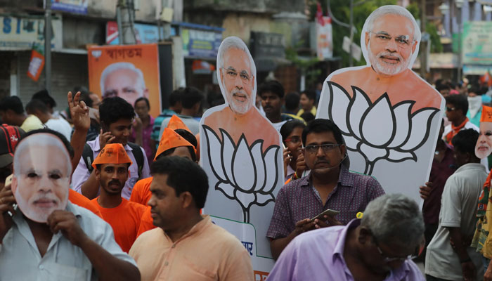 بھارتی انتخابی نتائج ،BJP کو برتری حاصل