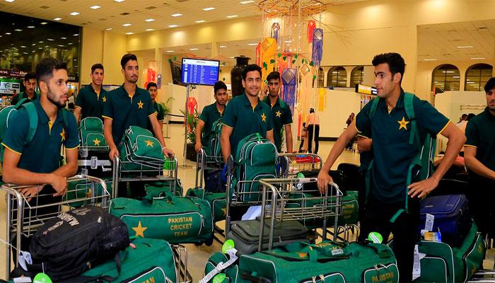 پاکستان کی انڈر19 کرکٹ ٹیم سری لنکا پہنچ گئی