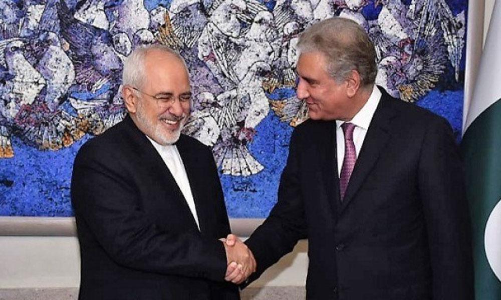 ایرانی وزیر خارجہ کی شاہ محمود قریشی سے ملاقات