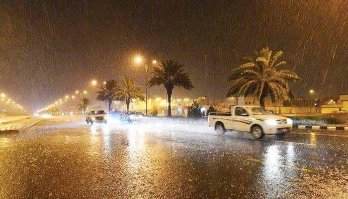 سعودی عرب کےمختلف شہروں میں بارش