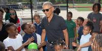 Barack Obama Surprises Students For Football And Baseball Game