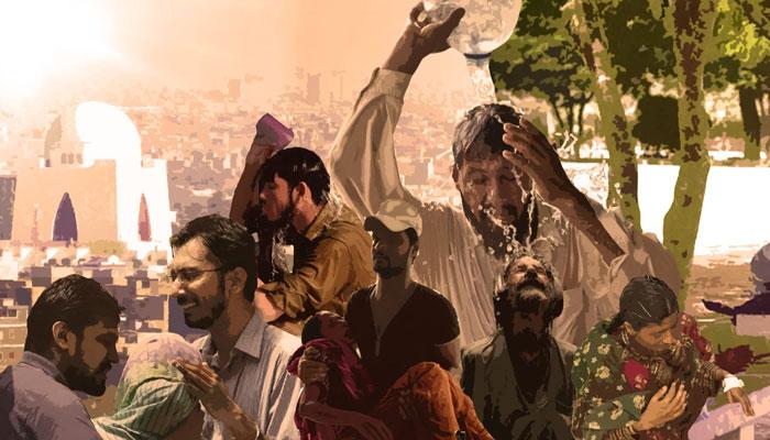 کراچی میں شدید حبس کا سلسلہ جاری
