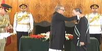 President Arif Alvi Confers Nishan E Pakistan On Chinese Vice President