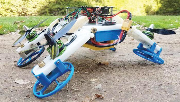 ہوامیں ڈرون اور زمین پر گاڑی بن جانے والا روبوٹ