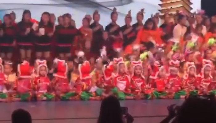 چین:اسکول تھیٹر شوکے دوران خطرناک حادثہ