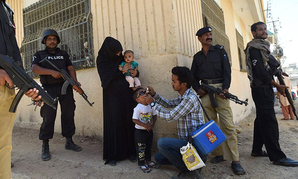 کراچی کے 10 سے زائد مقامات پر پولیو وائرس کی تشخیص