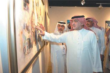 عربی رسم الخط اور تجریدی آرٹ کی نمائش