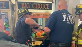 Firefighters Rescue 1 Year Old Trapped Inside Claw Machine New Jersey