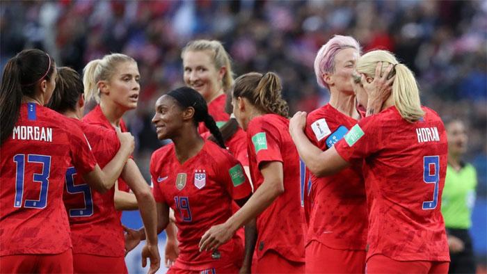 ویمنز فٹبال ورلڈ کپ میں امریکا کی تھائی لینڈ کو شکست