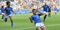 Women World Cup Football Cristiana Girelli Hat Trick