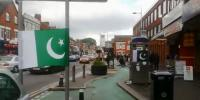 Manchesters Lanes Are Decorated With Pakistani Flags