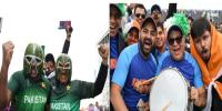 Pak India Fans Chant Slogans To Support Our Teams In Manchester