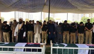 Karachi Funeral Offered Of Martyred Policemen
