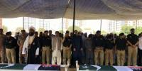 Karachi Funeral Offered Of Martyred Policemen