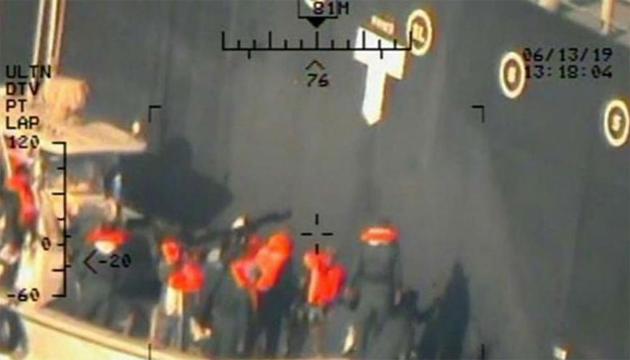 امریکا نے آئل ٹینکر پر حملے کی نئی تصاویر جاری کردیں