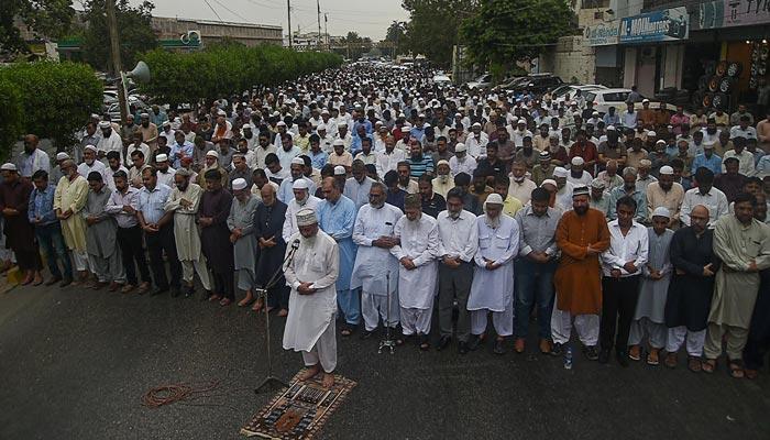 جماعت اسلامی کےزیر اہتمام مصر کے سابق صدر مرسی کی غائبانہ نماز جنازہ