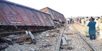 Freight Train Derail In Chaghi