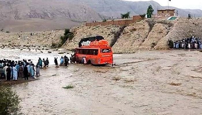 بلوچستان کے ضلع ہرنائی میں بارش اور لینڈ سلائیڈنگ