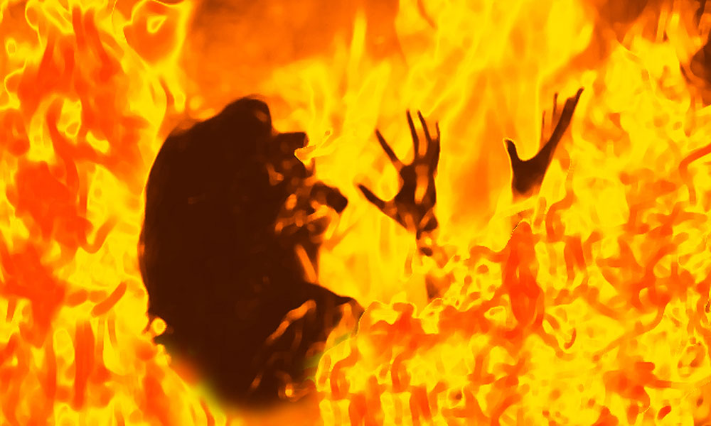 گوجرانوالہ میں شوہر نے بیوی کو جلا دیا