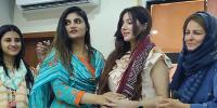 Famous Pakistani Artist Rabi Pirzada Media Talk At Kpc