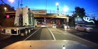 Horrifying Moment A Truck Smashes Into A Low Bridge