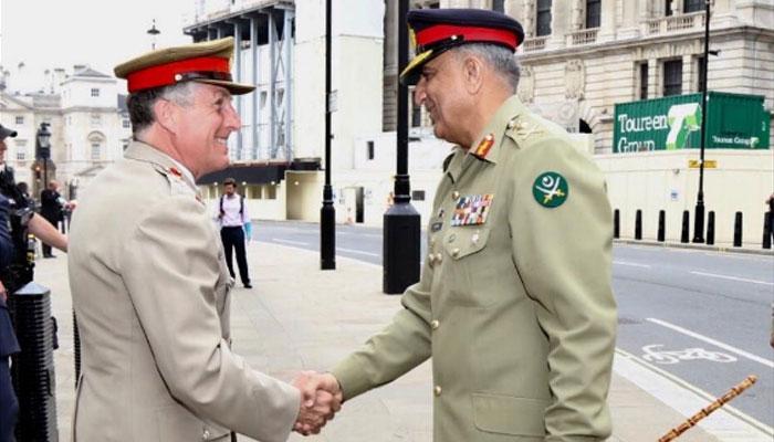 آرمی چیف کا برطانوی وزارت دفاع کا دورہ