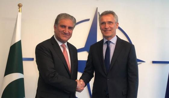 Pakistans Fm Meets Nato General Secretary In Brussels
