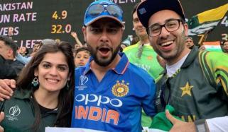 Indian Fan Cheering For Pakistan
