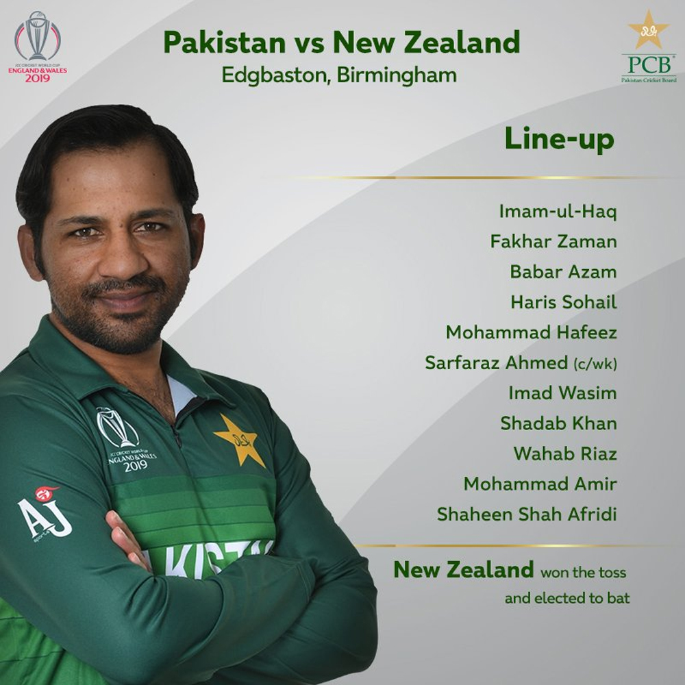 نیوزی لینڈ کا پاکستان کیخلاف پہلے بیٹنگ کا فیصلہ