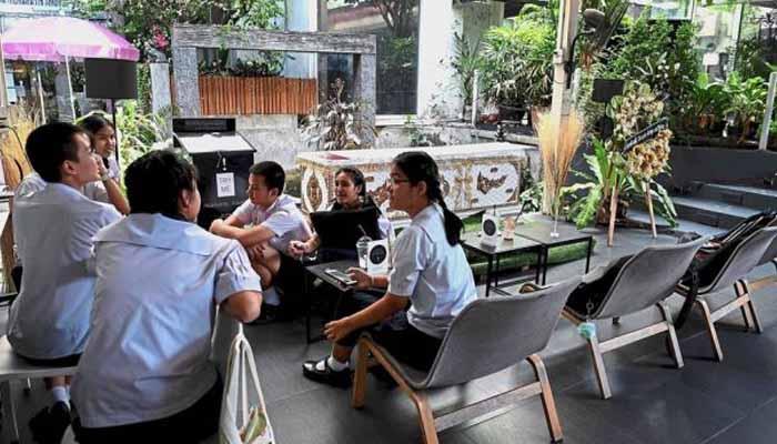 تھائی لینڈ میں سجا ڈیتھ تھیم کیفے