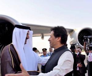 امیر قطر کا پاکستان آمد پرشاندار  استقبال