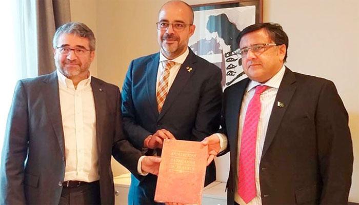 پاکستانی سفارتکار کی ہسپانوی حکام سے ملاقاتیں