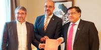 Pakistani Diplomate Meet Spainish Officials
