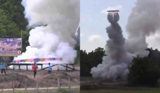 Giant Circular Rocket In Thailand