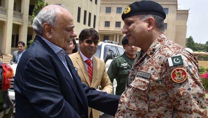 کراچی: وزیرداخلہ کا رینجرز ہیڈکوارٹرز کا دورہ