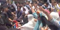 Karachi Sindh Nurses Alliance Protesters Police Clash In Karachi