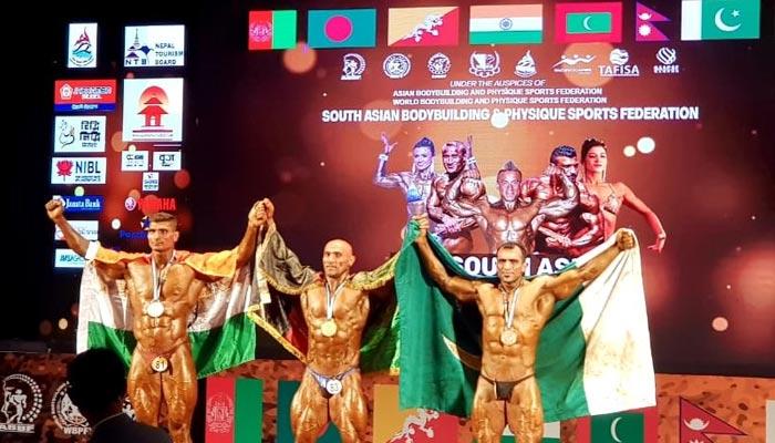ساؤتھ ایشین باڈی بلڈنگ میں پاکستانی کھلاڑیوں کی شاندار کارکردگی