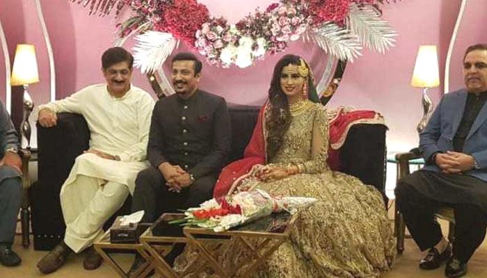 فیصل سبزواری اور ٹی وی اینکر مدیحہ رشتہ ازدواج میں منسلک