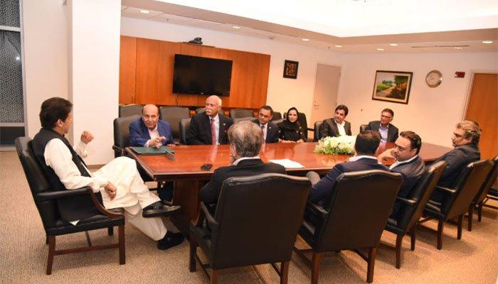 واشنگٹن، عمران خان کی پاکستانی بزنس کمیونٹی سے ملاقات
