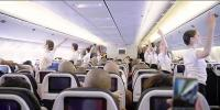 Dancers Perform A Flash Mob Ballet On Board An Air France Flight