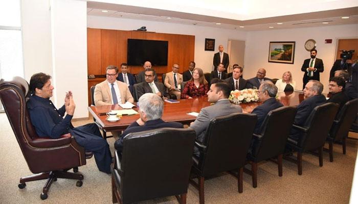 عمران خان سے یو ایس پاکستان بزنس کونسل کے وفد کی ملاقات