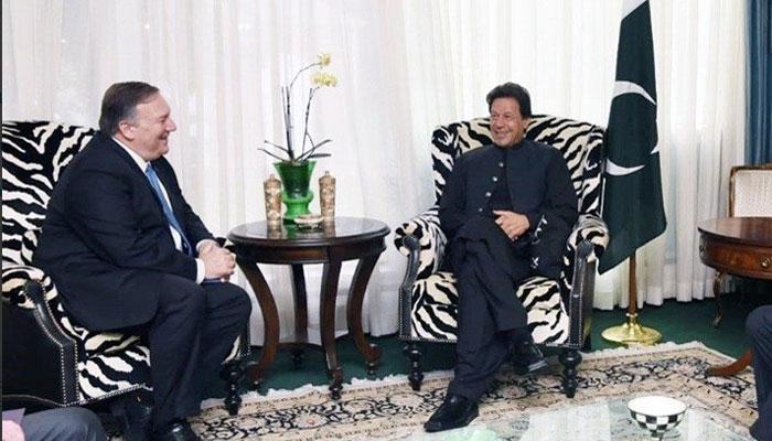 عمران خان کی مائیک پومپیو سے ملاقات