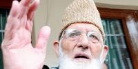 Syed Ali Geelani Says We Are Thankful To Pakistan For Raising Issue Of Kashmir