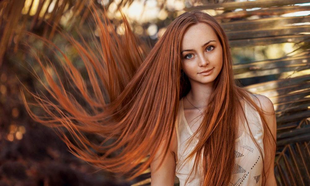 لمبے ،گھنے اورچمک دار بال