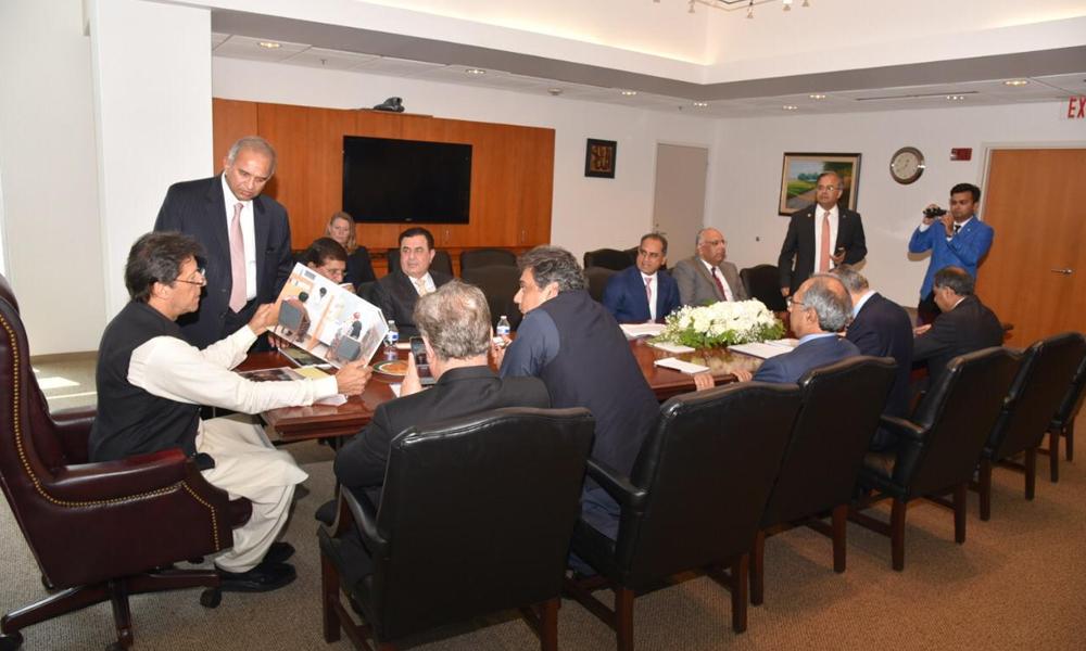 واشنگٹن:طبی سہولتوں پر وزیر اعظم سے سرمایہ کاروں کی ملاقات