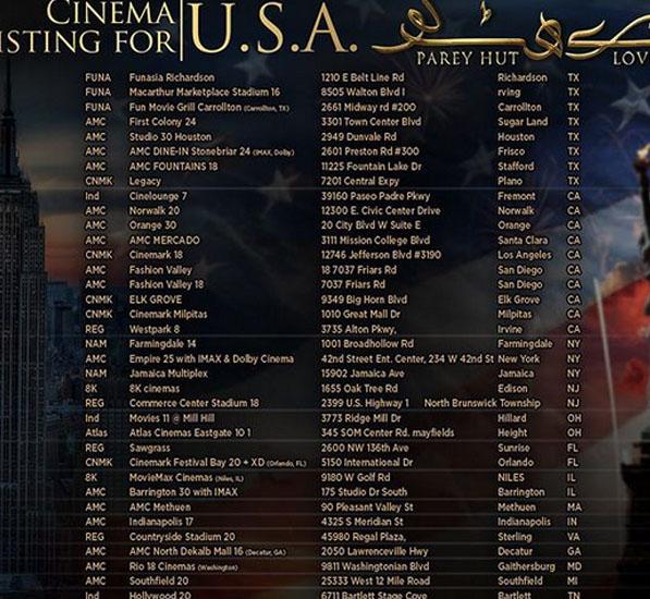 فلم'پرے ہٹ لو 'برطانیہ ،امریکا میں نمائش کیلئے پیش